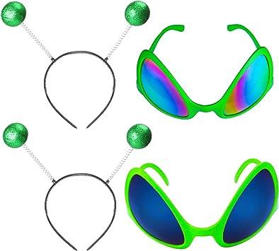 Beelittle 2 Piezas Gafas Extraterrestres Gafas de Sol con Disfraz ...