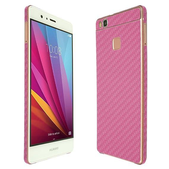 Amazon com: Huawei P9 Lite Screen Protector + Pink Carbon