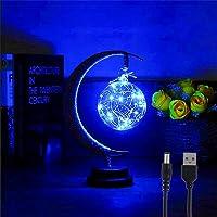 The Enchanted Lunar Lamp, Magic Moon Night Light, LED Moon Lamp Kids Night Light Galaxy Lamp,Memorial Night Light with…