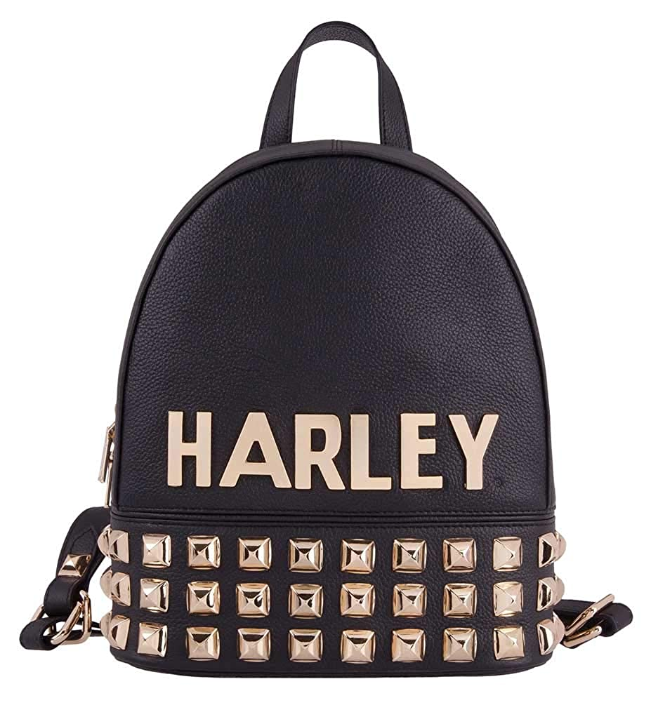 Harley-Davidson Women's Gold Digger Studded Leather Backpack HDWBA11420-BLK B07STFY4XD