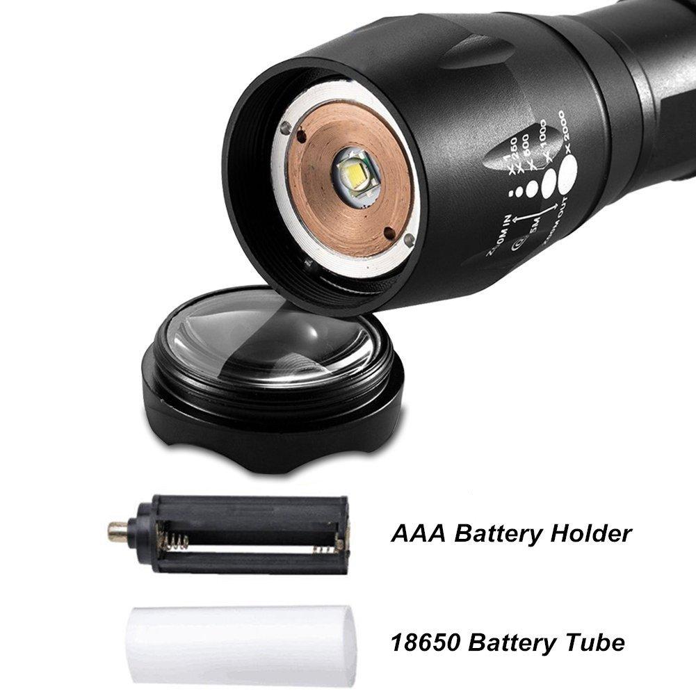ON THE WAY Adjustable Focus A100 XML T6 LED Flash Light TRTA003733 Ultra Bright Flashlight