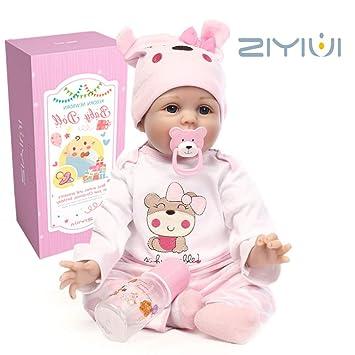 ZIYIUI 22 Inch 55 cm Muñeca Reborn Baby Dolls Hecho a Mano Vinilo de Silicona Suave Realidad Bebé Recién Nacido Chica Juguete magnético Realista Niño ...