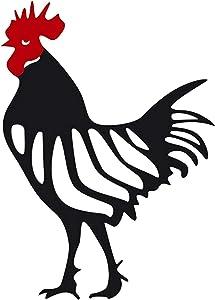 Garden Chicken Decoration-Chicken yard art,chicken silhouette shadow stakes,outdoor garden rooster art stakes yard decor, silhouette yard stakes -garden art stakes outdoor-outdoor silhouette decor