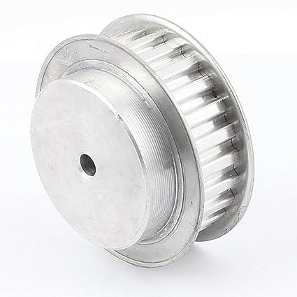 sourcingmap taladro metal CNC Torno L25 25T 9,525mm de Aluminio Polea de La Correa de