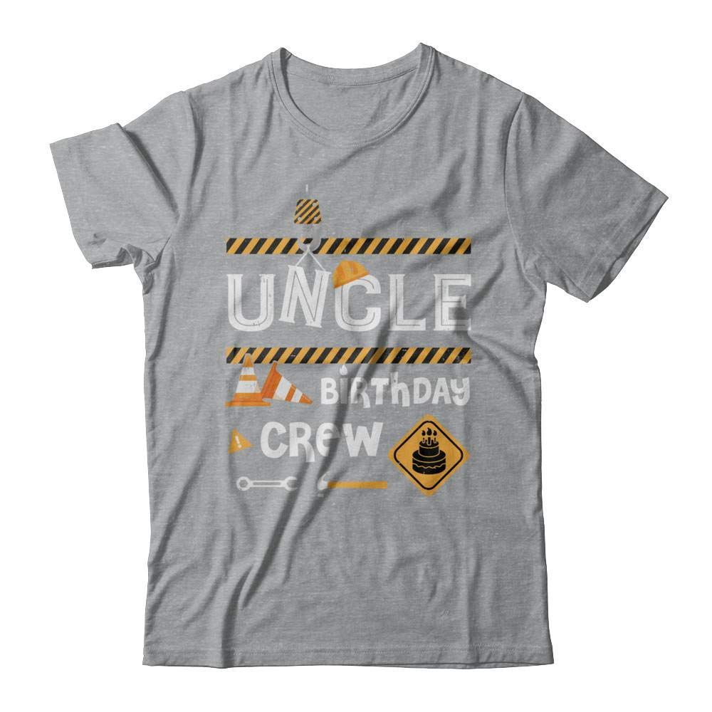 S Uncle Birthday Crew Construction Birthday Party Gift Shirt Short Sleeve Tee