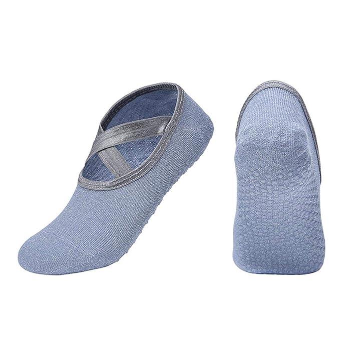 Calcetines Antideslizantes Yoga para Las Mujeres Respirables De Pilates No Calcetines Calcetines Barrer