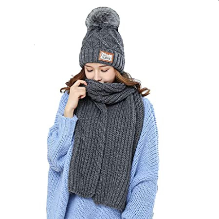 Tukistore Damen Winter Gestrickte Verdicken Loop Schal Amazonde