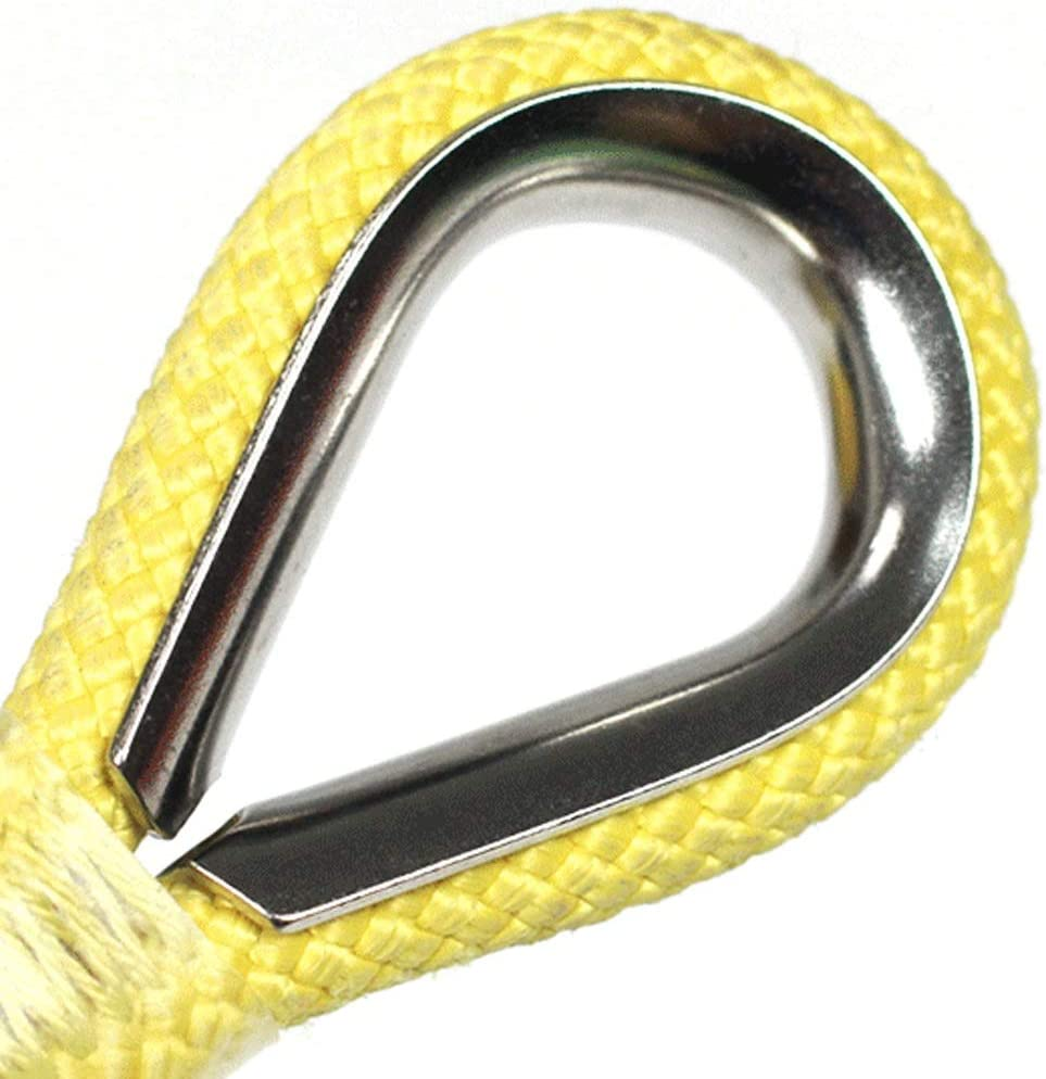 Size : 20M 4 Sizes rope Jun Feng SHop Safety Rope Wear-resistant Household Escape Rope Outdoor Climbing Rope Fire Safety Rope Outdoor Safety Rope Aerial Work Bundled Rope Work Rope Yellow 11mm