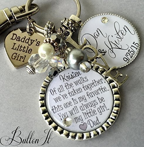 Wedding gift for Bride from dad, daughter wedding gift, bridal bouquet, wedding jewelry, wedding bouquet charm, Daughter wedding gift, bridal shower gift, mother daughter jewelry, personalized wedding