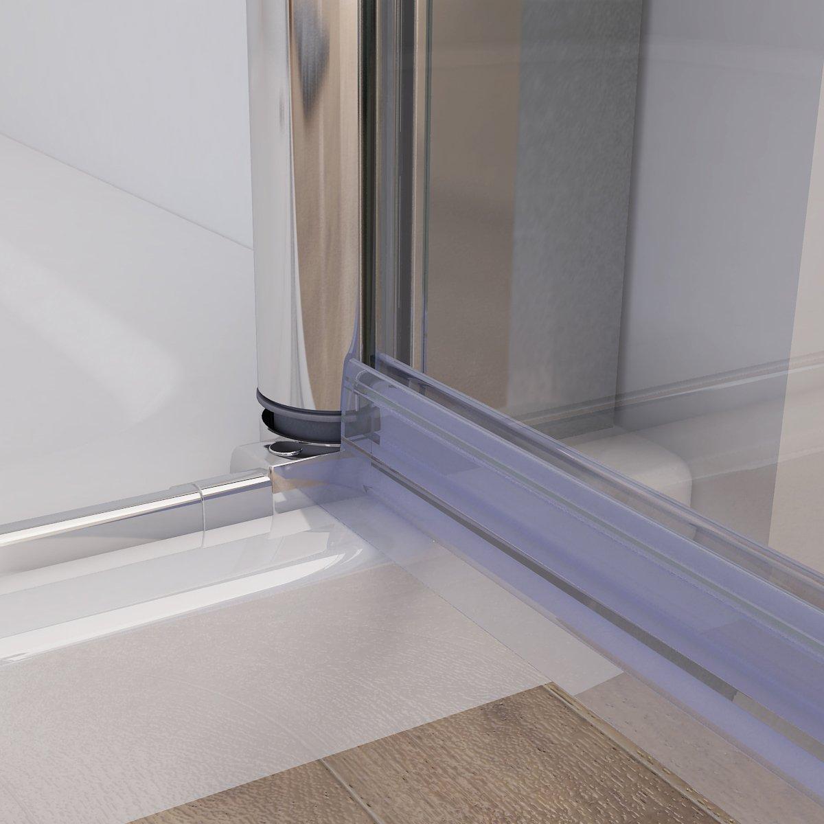 Duschkabine 75x75 cm Eckig Dusche Faltt/ür 70 Seitenwand 75 Duschwand NANO Glas 185cm