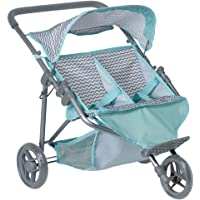 """Adora """"Zig Zag Twin Jogger Stroller"""" Baby Doll Gender Neutral Toy Play for Kids, Toddler and Children 3+"""