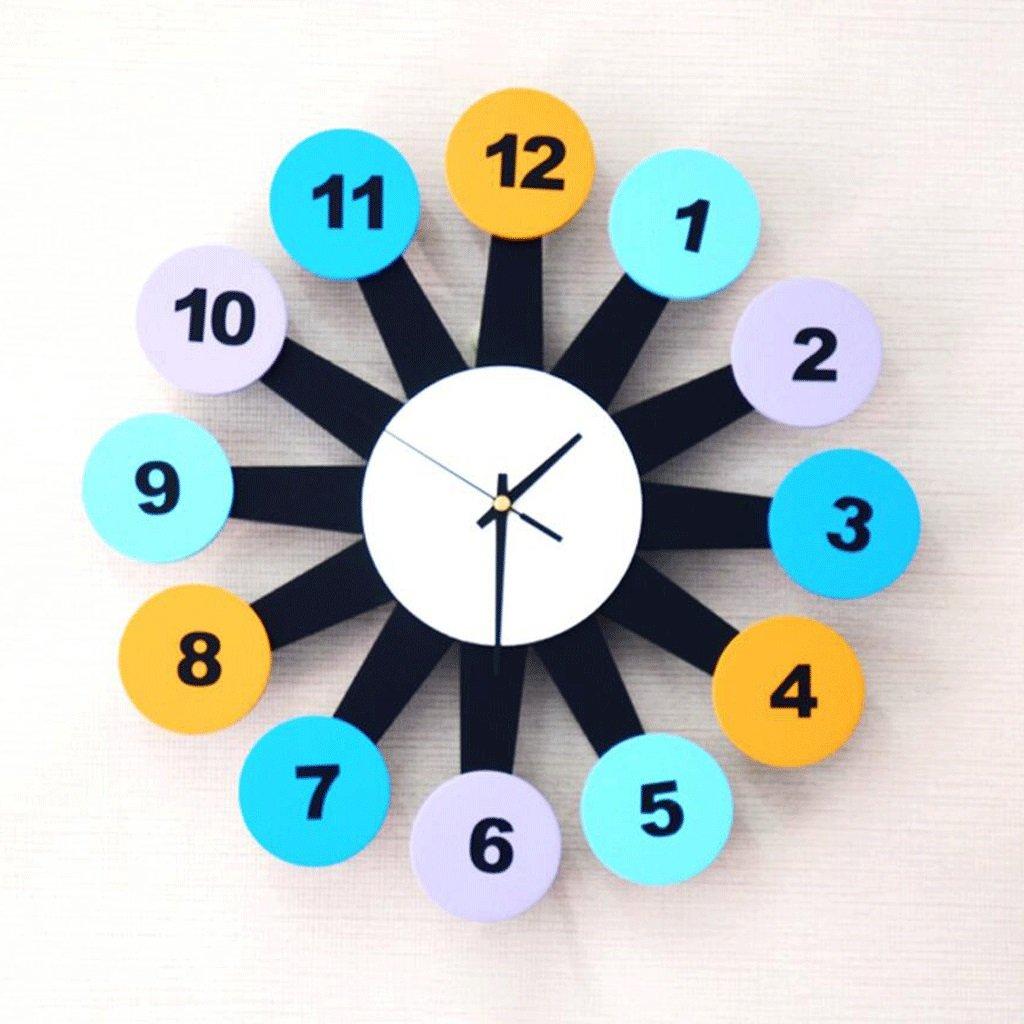 YYF Wanduhr Kreative Wanduhr Kinderzimmer Wohnzimmer Moderne Dekorative Wand Hängenden Tisch ( Farbe : B )