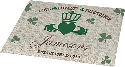 GiftsForYouNow Personalized Irish Family Doormat, 18 x 24 , Fleece, Indoor Outdoor