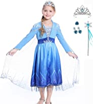 Luzlen New Princess Costumes for Girls Halloween Party Cosplay Dress Up 3-12 Years