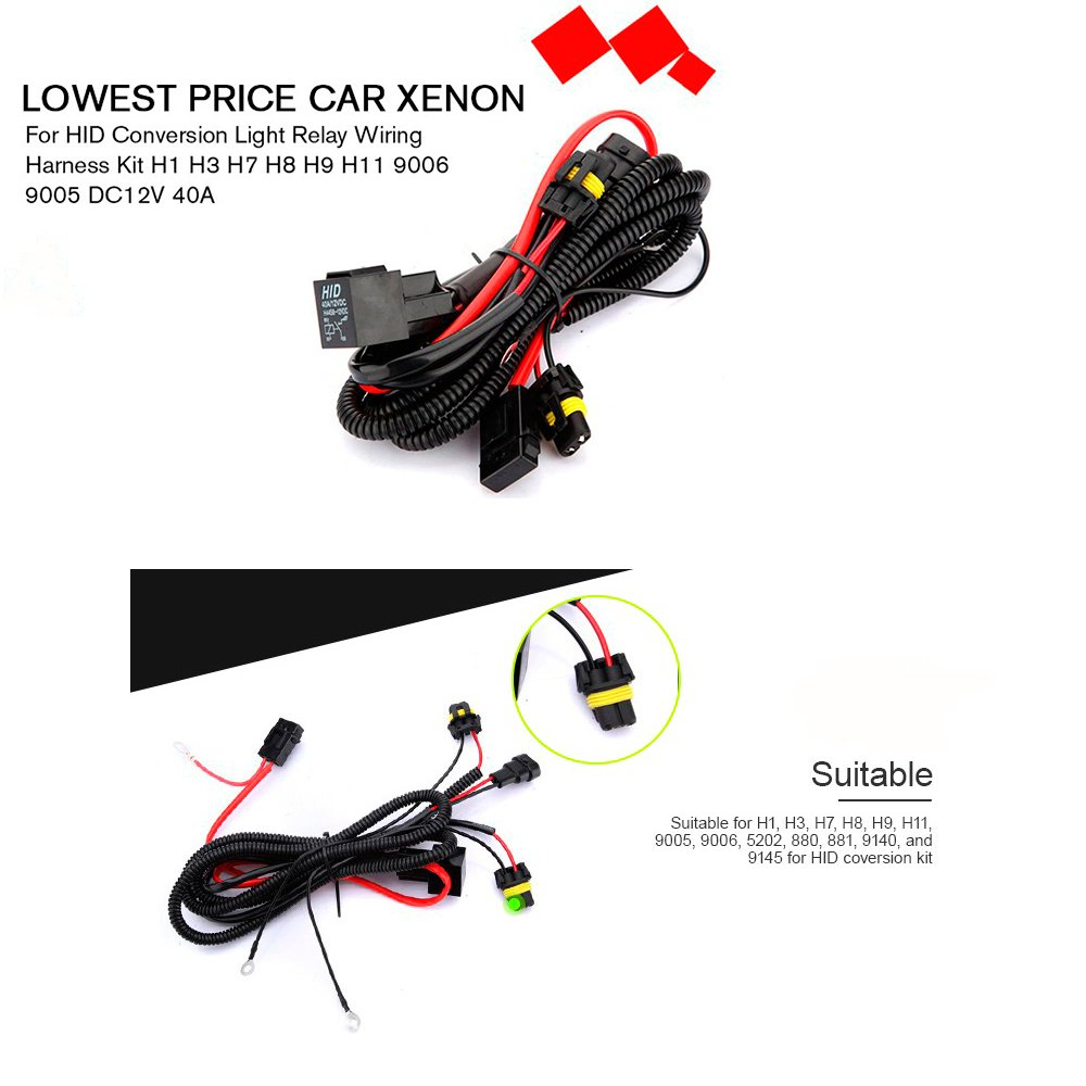 H1 Wiring Harness Library H8 Amazoncom Champled Xenon Kits W Drl Hid Conversion Kit Relay