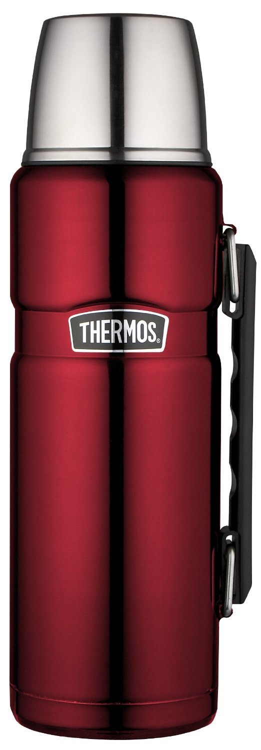 Thermos Stainless King 40 Ounce Beverage Bottle, Cranberry by Thermos (Image #1)
