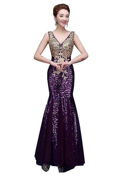 Vestidos De Noche Rhinestone Señoras Largo Con Sirena