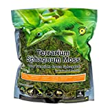 Galapagos 05203 Terrarium Moss, 5-Star Golden Sphagnum, Natural, 1/3-Pounds