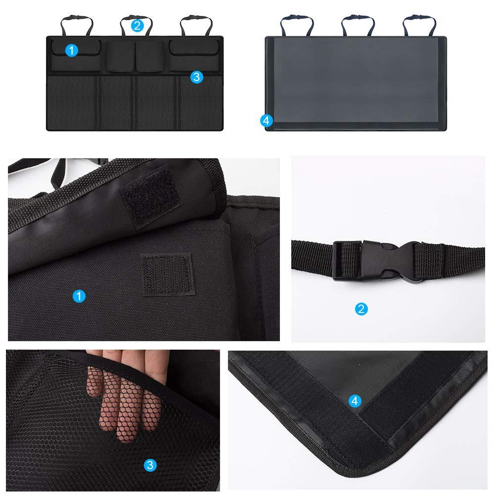 Negro para ipad Impermeable F/ácil de limpiar Kick Mats de Coche Universal Multi-Bolsillos Organizanizador 2 Pack Organizadores para Asientos de coches