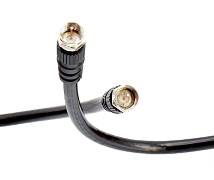 THE CIMPLE CO - Coaxial Cable (Coax Cable) 12ft with Easy Grip Connector Caps