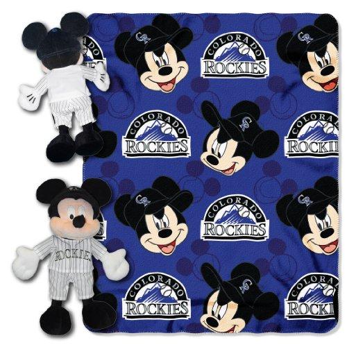 Plush Colorado Rockies (The Northwest Company MLB Colorado Rockies Pitch Crazy Co Disney's Mickey Hugger and Fleece Throw Set)