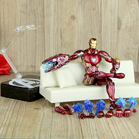 16 Cm Iron Man Avengers Figuras De Acción Mk50 Multi-Joint ...