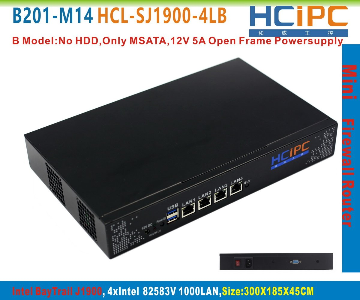 HCiPC B201-M14 HCL-SJ1900-4LB, Intel J1900 QuadCore 82583V 4Giga LAN Mini Firewall, Mini Network Router, 4LAN firewall Motherboard ShenZhen HeCheng IPC Technology Co.LtdNB MJ[