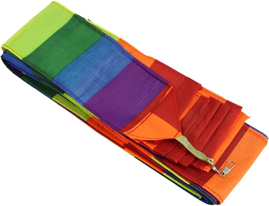 REFURBISHHOUSE Cometa de Truco de Super de Nylon de Cola de Color de Arco Iris Accesorio para Juguete de Ninos