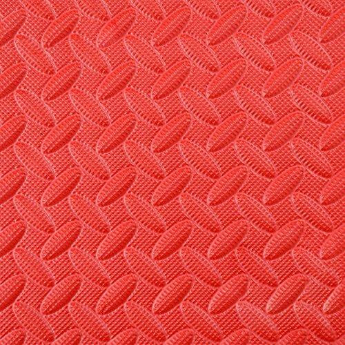 HOMEE Foam Stitching Creeper Pad Stitching Puzzle Mats Thick Large Bedroom Tatami Floor Mats,Red 4-Pack,60602.5Cm by HOMEE