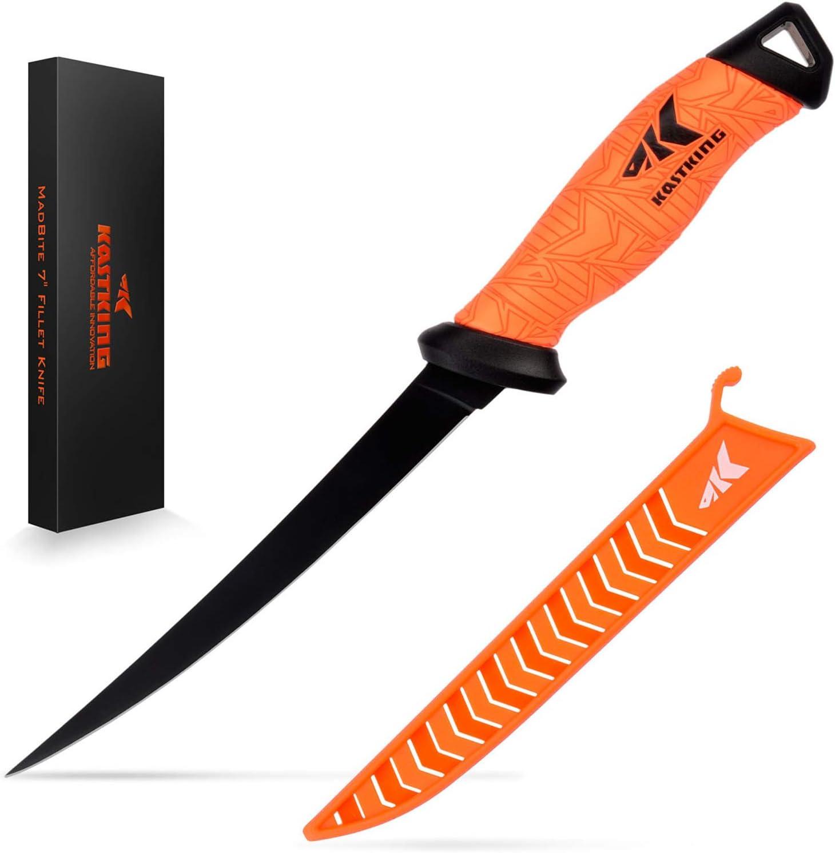 KastKing Fillet Knife 7-inch – Razor-Sharp Stainless Steel Blades