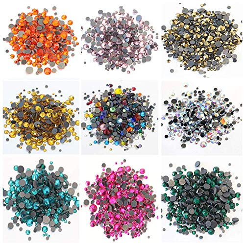 BLINGINBOX SS6-SS30 Glass Strass Crystal DMC Hot Fix Rhinestones Iron On Stones Flatback Clear Hotfix Rhinestones (SS6)