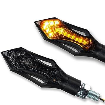 4 Stück LED Mini Blinker MicroBlinker Schwarz getönt Motorrad Quad ATV Roller DE