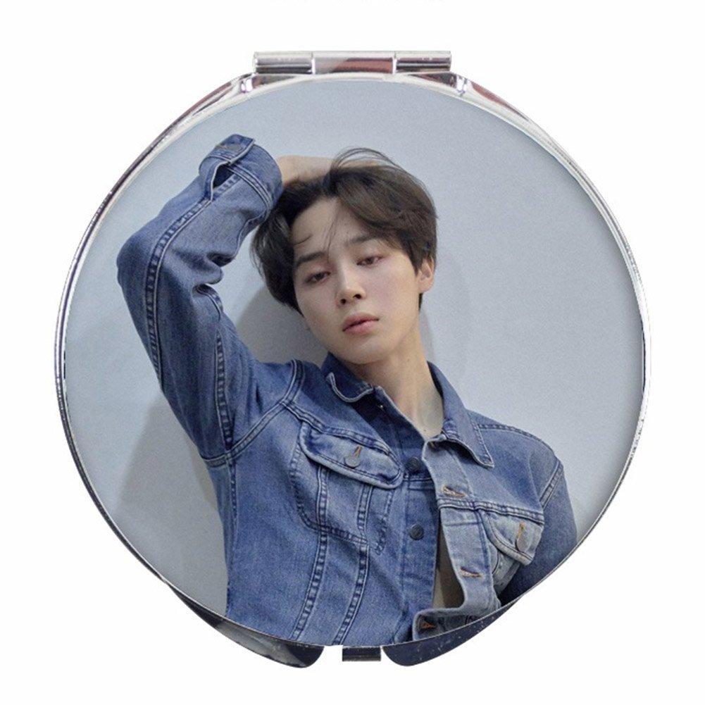 Brie Fuchi K-pop BTS Miroir de Maquillage Miroir de Poche Pliant Face Miroir Compact pour Amis qui Aiment BTS - A