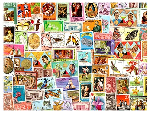 West Indies, Caribbean & Antilles : 200 Different Stamps Collection Mixture Packet Stamps for Collectors