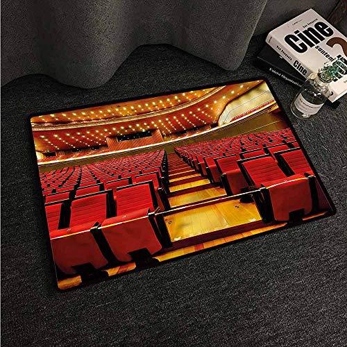 Rug Bathroom Mat Musical Theatre,Grand Hall Chairs,W30 xL39 American Floor mats