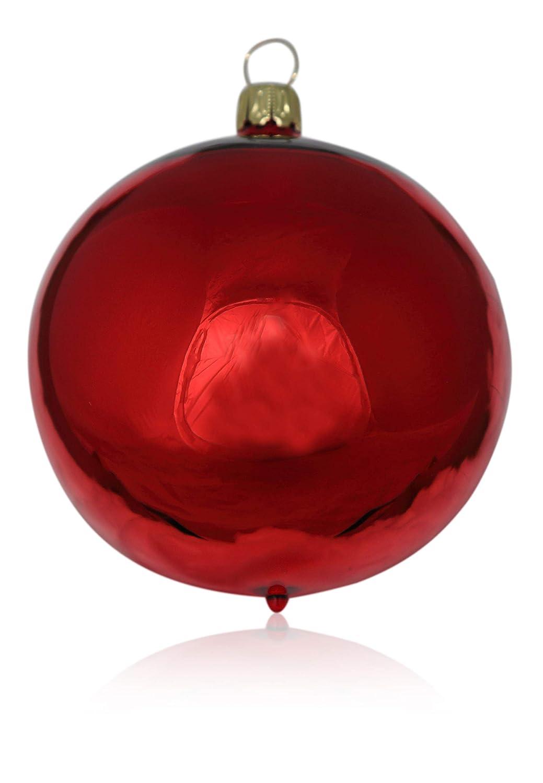 Kugeln rot glanz 2 St/ück d 12cm Christbaumschmuck Weihnachtsbaumschmuck mundgeblasen Lauschaer Glas das Original