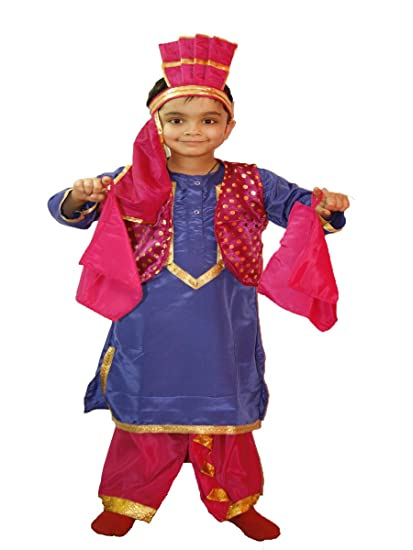 b650b34c4 Buy FancyDressWale Kids Bhangra/Punjabi Boy Costume (Multicolor, 6-8 Yrs)  Online at Low Prices in India - Amazon.in
