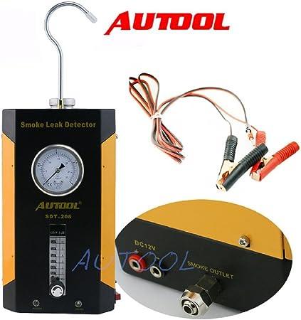 Autool Sdt 206 Auto Leckageprüfer Kraftstoffleck Diagnosegerät Unterstützt Evap Für Alle Fahrzeuge Einstellbarer Druck Auto