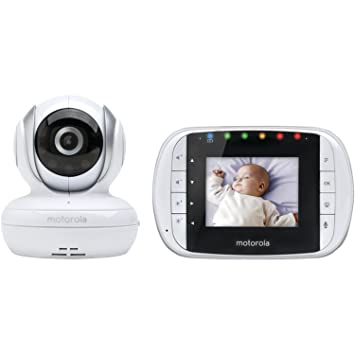 Motorola MBP33S Wireless Video Baby Monitor with 2.8-Inch Color LCD Zoom