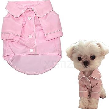 Pajamas para perro, cachorro de cachorro, de seda, elegante, suave, ropa de noche para mascotas, ropa de dormir para gato ...