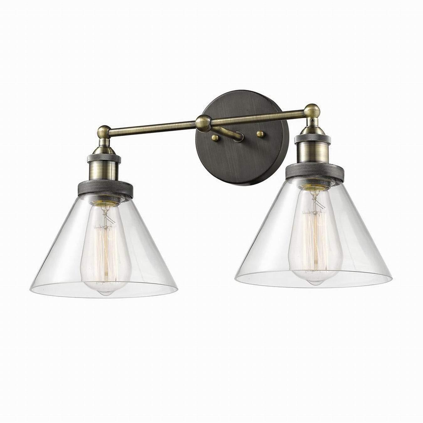 CLAXY Applique Murale Lampe Vintage en Verre LED lampe murale Luminaire Ré glable Lampe de Plafond DEUX USAGES
