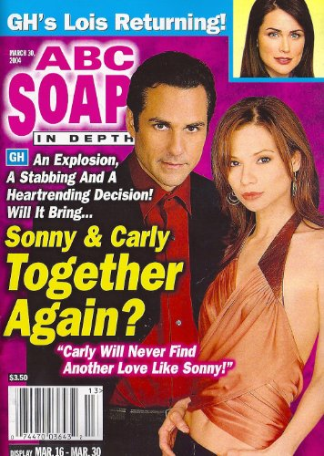 Maurice Benard, Tamara Braun, General Hospital, Rena Sofer, Amber Tamblyn - March 30, 2004 ABC Soaps in Depth Magazine [SOAP OPERA]