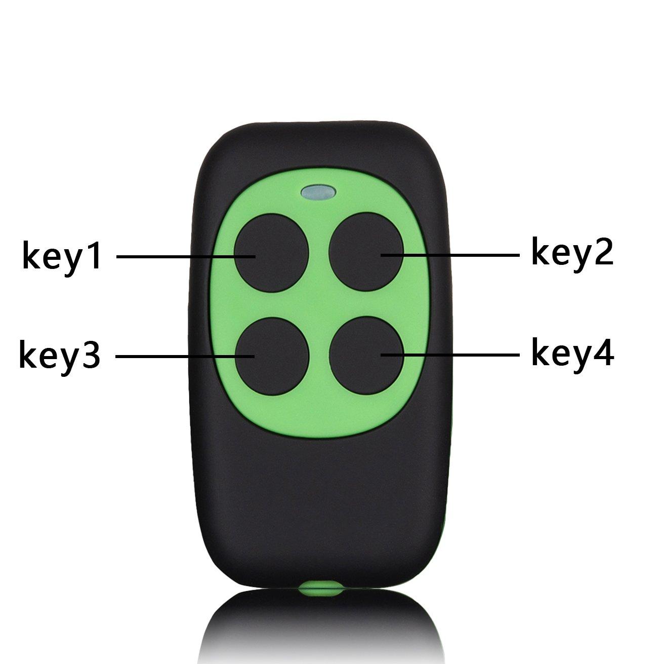xihada固定コード、ローリングコードガレージドアリモートコントローラDuplicator/リモートキーレスキーマルチ周波数280 mhz-350mhz/380mhz-450mhz/867mhz-868mhzカラーブラックとグリーン B07CYP2W3F 18041
