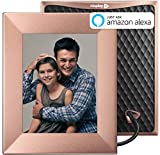 Nixplay W08E- Peach Copper Iris 8″ Wi-Fi Cloud Digital Photo Frame with IPS Display, iPhone & Android App, iOS Video Playback, Free 10GB Online Storage, Alexa Integration, Peach Copper