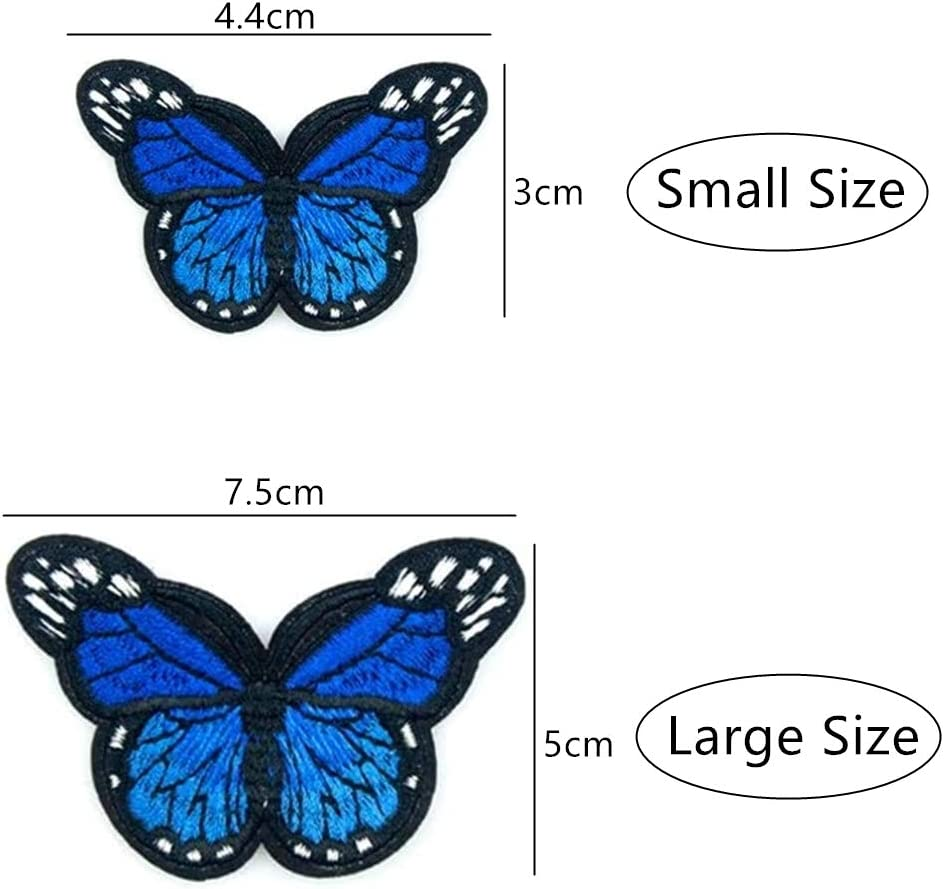 24Pcs Butterfly Patches Embroidery Butterfly Sew Iron on Patch Clothing Embroidery Badge Applique for DIY Decor T-Shirt Jacket Shoes Bags Repair Patch
