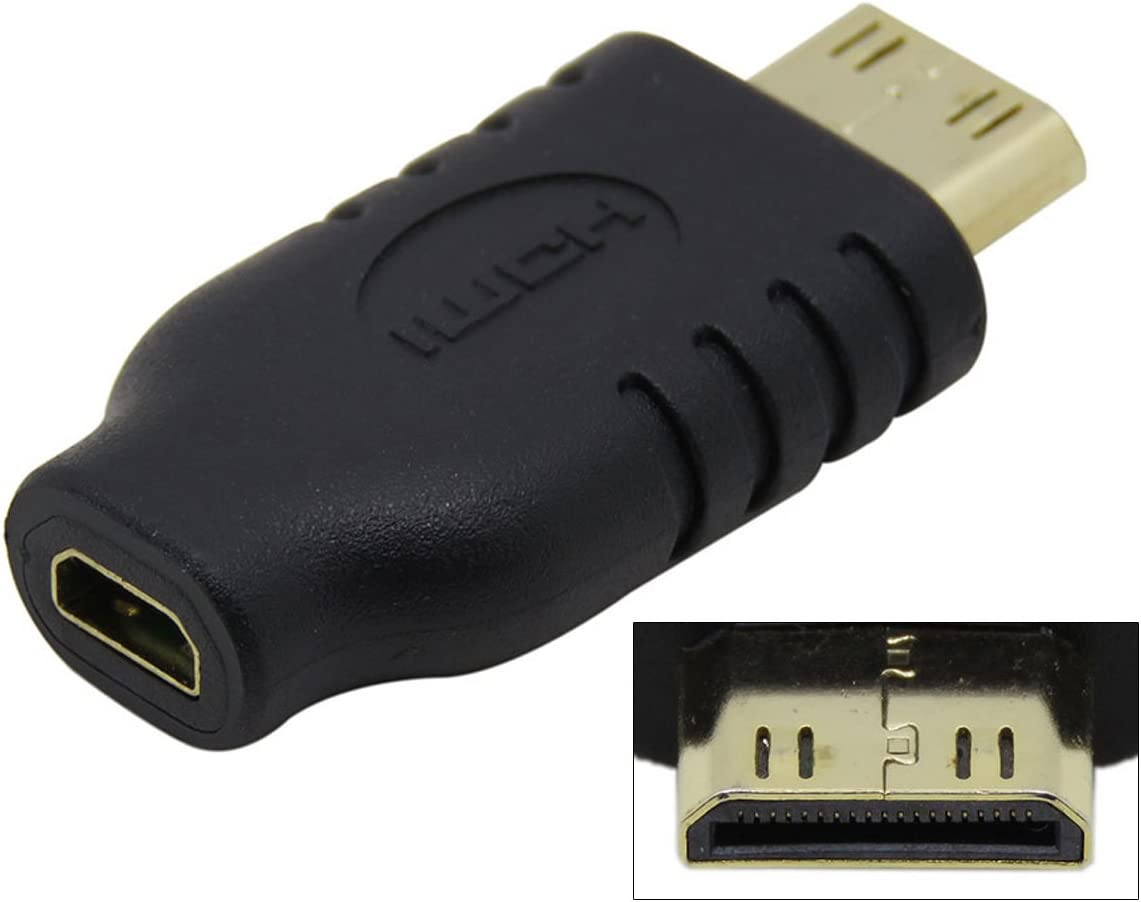 CY Type D Micro HDMI Socket Female to Type-C Mini HDMI 1.4 Male Convertor Adapter