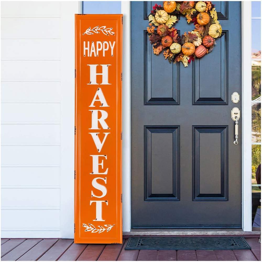 "Happy Harvest Farmhouse Truck Sign Wall Sign Decor 11.25/"" X 11.25/"" New"