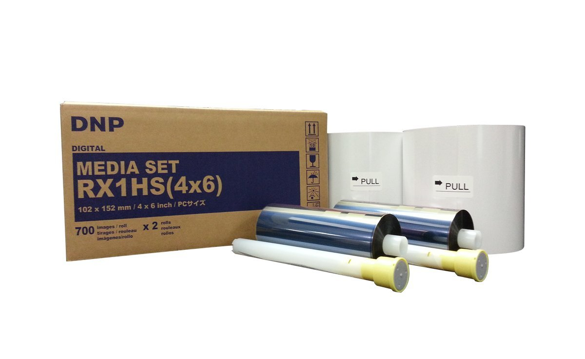 DNP Print Media for DS-RX1HS and DS-RX1 Printers - 4x6'' 700 Prints Per Roll; 2 Rolls Per Case (1400 Total Prints) by DNP