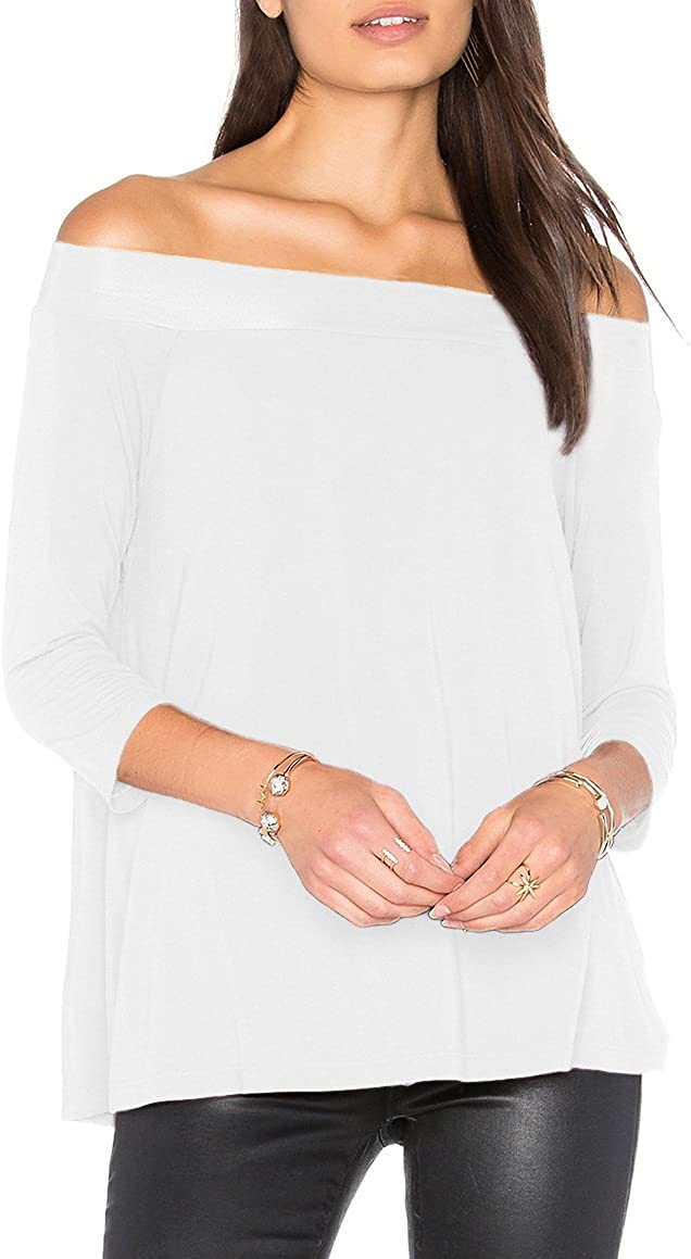 Michael Stars 3//4 Sleeve Off The Shoulder