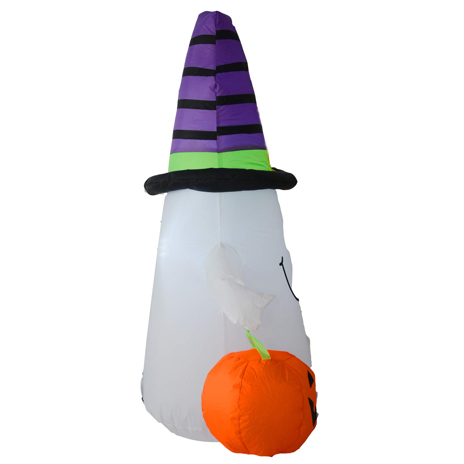 DIGIANT 4 Foot Halloween Inflatable Air Blown Ghost with Jack-O-Lantern Pumpkin//Witch Hat Lighted for Home Yard Garden Indoor and Outdoor Decorations
